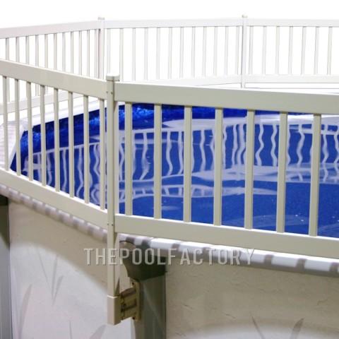 8'x16' Oval Vinyl Works Premium Resin Fence Kit