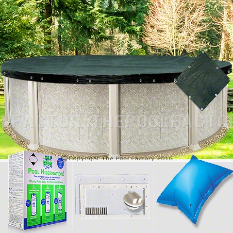 15' Round Supreme Closing Package for Pool Frog System (WideMouth Plate)