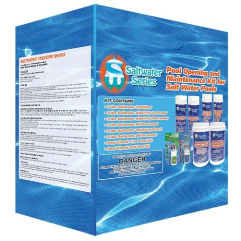 Saltwater Series Chemical Maintenance Kit with Test Kits