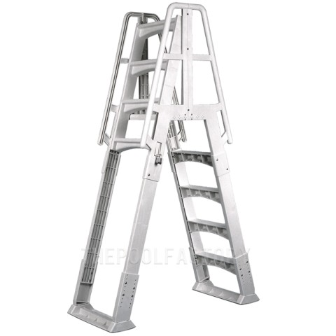 Vinyl Works Slide & Lock A-Frame Ladder - White
