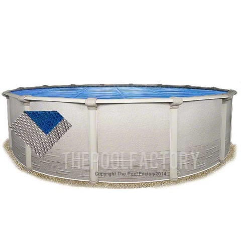 15' Round Space Age Silver/Blue Solar Cover