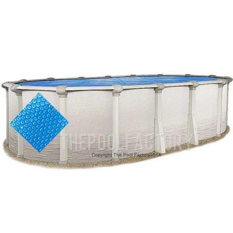 10'x21' Oval Heavy Duty Blue Solar Cover