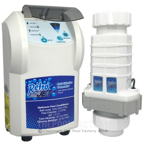Solaxx Saltron Retro Jet RJ Above Ground Pool Saltwater Chlorine Generator