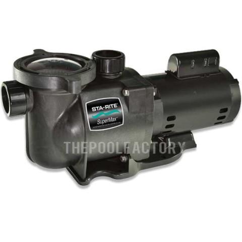 Sta-Rite SuperMax 1 1/2HP Full Rated Single Speed Pool Pump 115V/230V - PHK2RA6F-103L