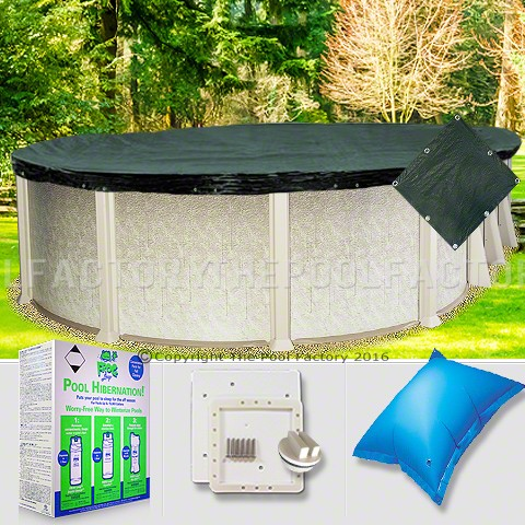 12'x18' Oval Supreme Closing Package for Pool Frog System (Small Mouth Plate)