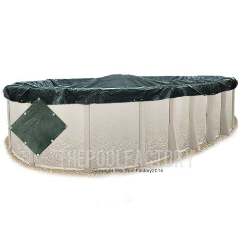 12'x18' Oval Supreme Guard Winter Cover