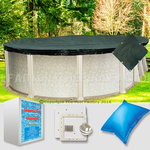 18'x40' Oval Supreme Closing Package for Saltwater Systems (Small Mouth Plate)