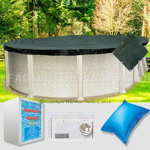 15'x24' Oval Supreme Closing Package for Saltwater Systems (WideMouth Plate)