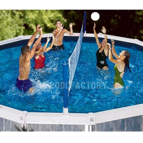 Swimline Cross Pool Volley Above Ground Volleyball Game 9187