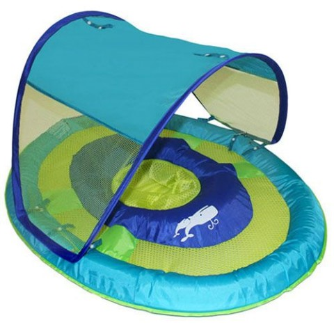 SwimWays Baby Spring Float Sun Canopy (Aqua Whale) 11606