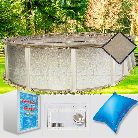 15'x26' Oval Ultimate Closing Package for Saltwater Systems (WideMouth Plate)