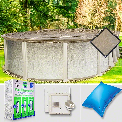 12'x18' Oval Ultimate Closing Package for Pool Frog System (Small Mouth Plate)