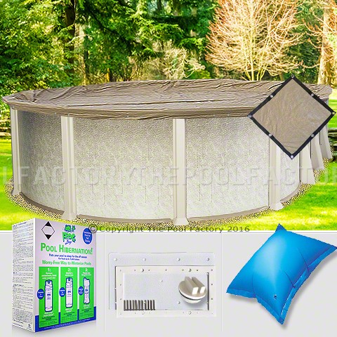 15'x30' Oval Ultimate Closing Package for Pool Frog System (WideMouth Plate)