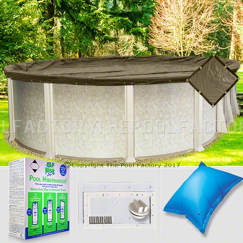 21'x43' Oval Super Heavy XXtreme Closing Package for Pool Frog System (WideMouth Plate)