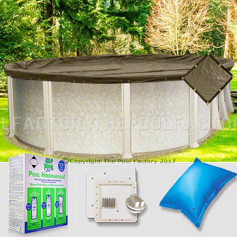 8'x14' Oval Super Heavy XXtreme Closing Package for Pool Frog System (Small Mouth Plate)