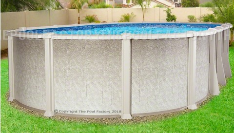 "12'x24'x54"" Saltwater 8000 Oval Pool"