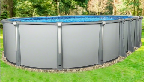 """15'x26'x54"""" Saltwater Aurora Oval Pool with Resin Composite Wall"""