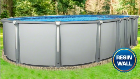 "15'x30'x54"" Saltwater Aurora Oval Pool with Resin Composite Wall"