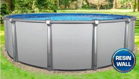 "21'x54"" Saltwater Aurora Round Pool with Resin Composite Wall"