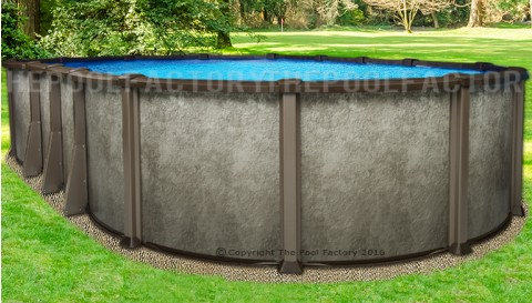"12'x24'x54"" Saltwater LX Oval Pool"