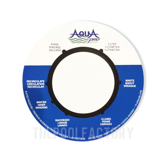 Label Sticker for Aquapro Top Mount Sand Filter Valve