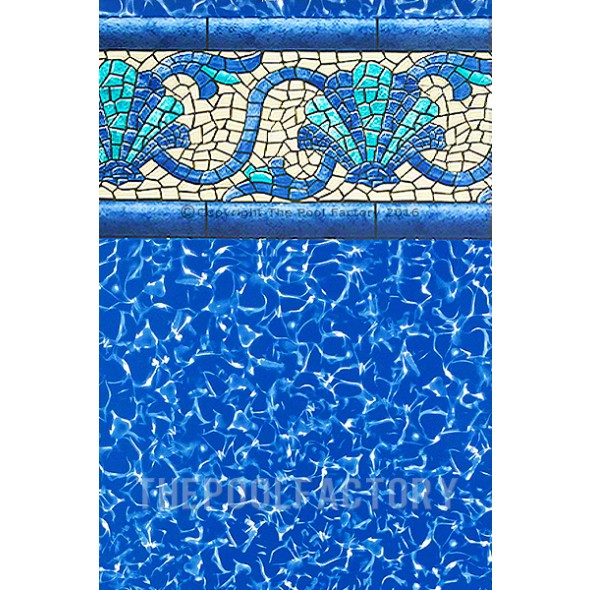 "15'x30'x54"" Oval Uni-Bead Beach Haven Liner - 30 Gauge"