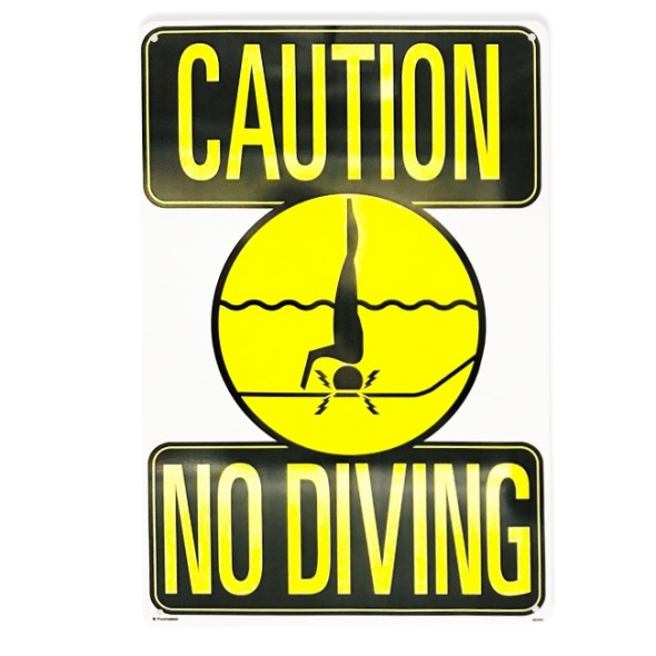 "12""x18"" Caution No Diving Sign"