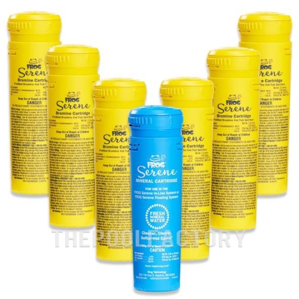 Spa Frog Serene Mineral & Bromine Cartridge Package (1 Mineral & 6 Bromine)