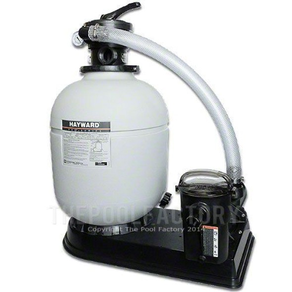 "Hayward S180T 18"" Sand Filter System 1.5-HP Power-Flo Pump"