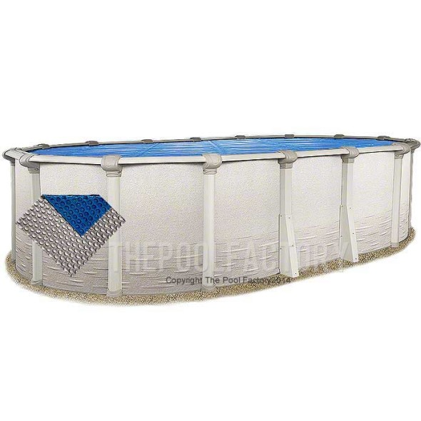 10'x19' Oval Space Age Silver/Blue Solar Cover