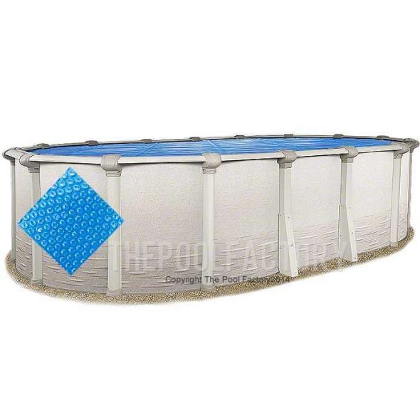 10'x18' Oval Heavy Duty Blue Solar Cover
