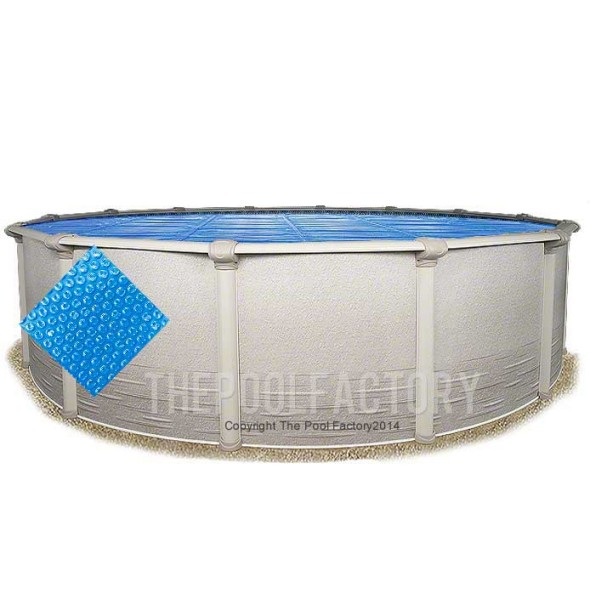 21' Round Heavy Duty Blue Solar Cover