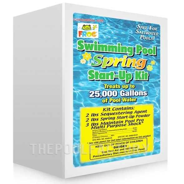Spring Start Up Kit for Chlorinated, Pool Frog, or Saltwater Pools up to 25,000 Gallons