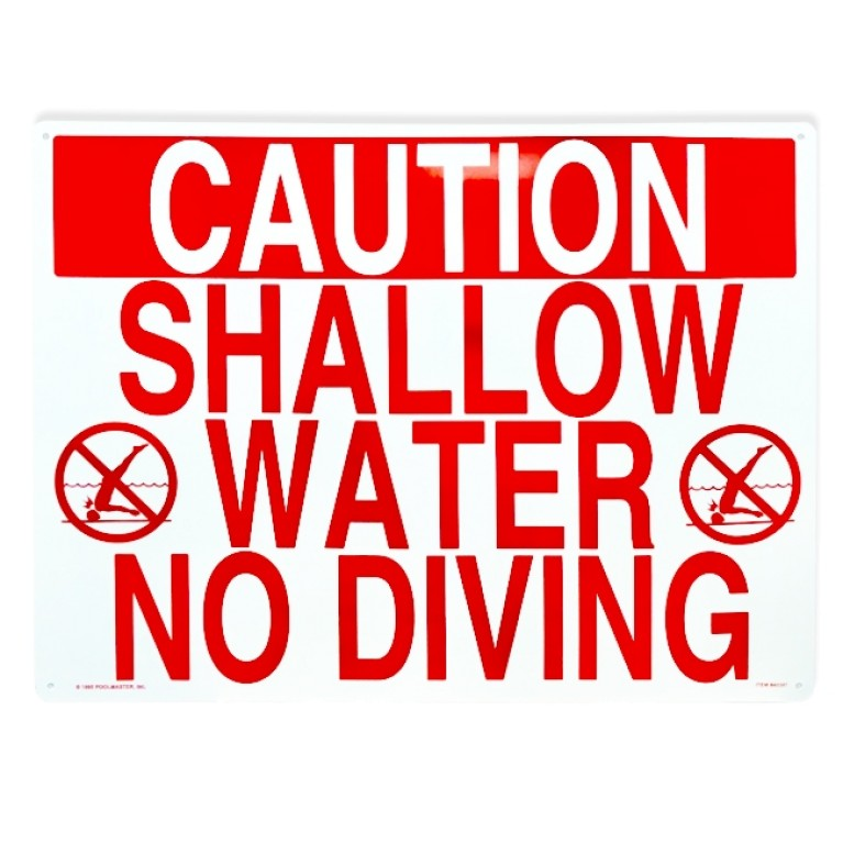 "24""x18"" Shallow Water No Diving Sign"