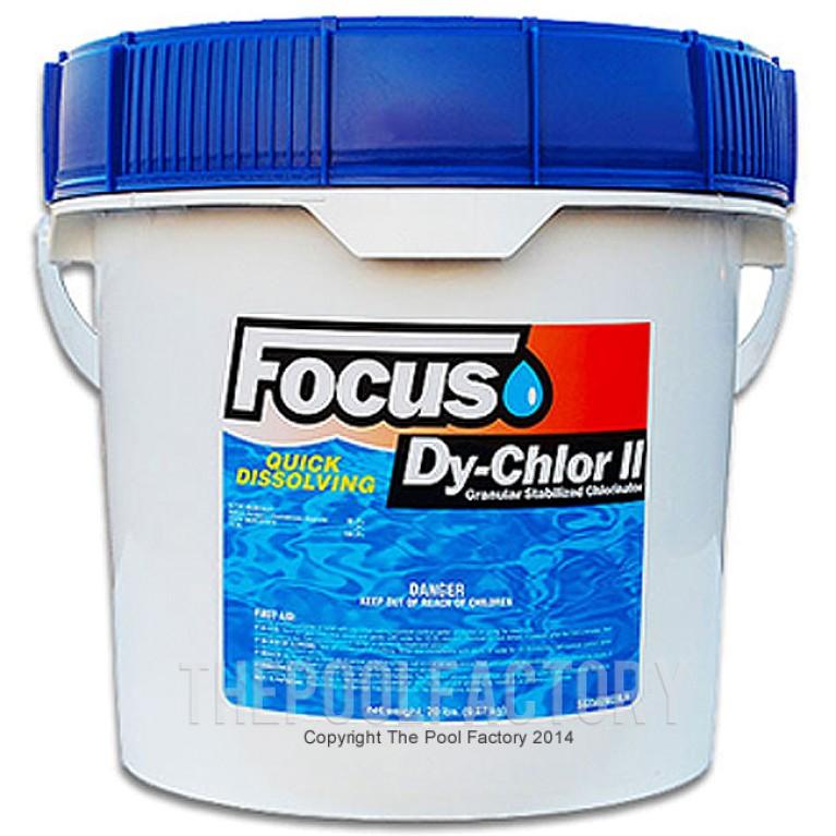 Focus Chlorine Granular 20lbs - Quick Dissolving