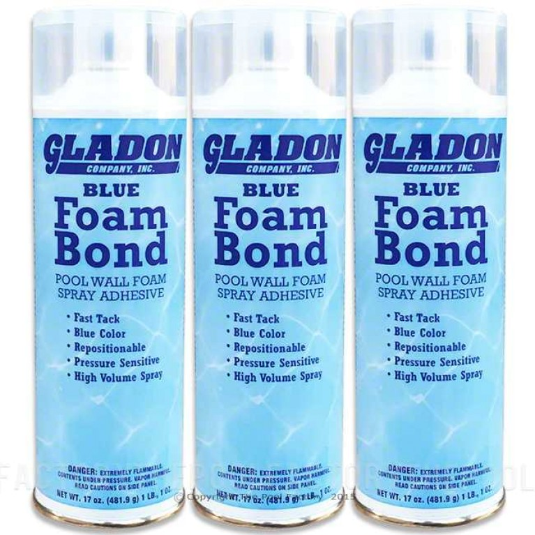 Gladon Foam Bond Spray Adhesive for Wall Foam - 3 Pack