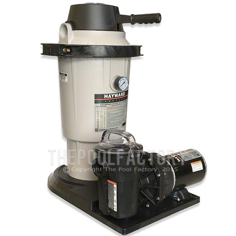 Hayward Perflex EC40 D.E Filter System 1-HP Power-Flo Pump