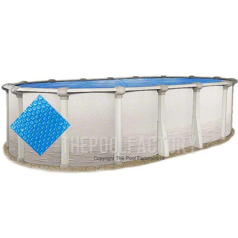 15'x26' Oval Heavy Duty Blue Solar Cover