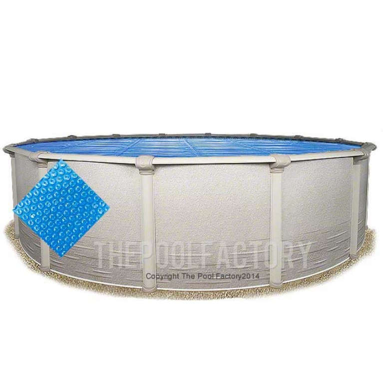 30' Round Heavy Duty Blue Solar Cover
