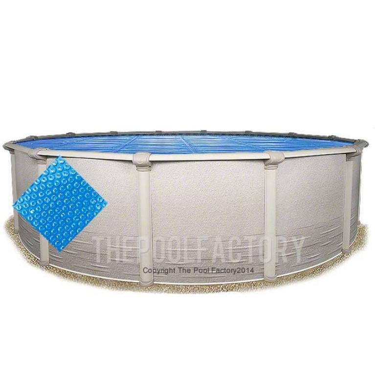 15' Round Heavy Duty Blue Solar Cover