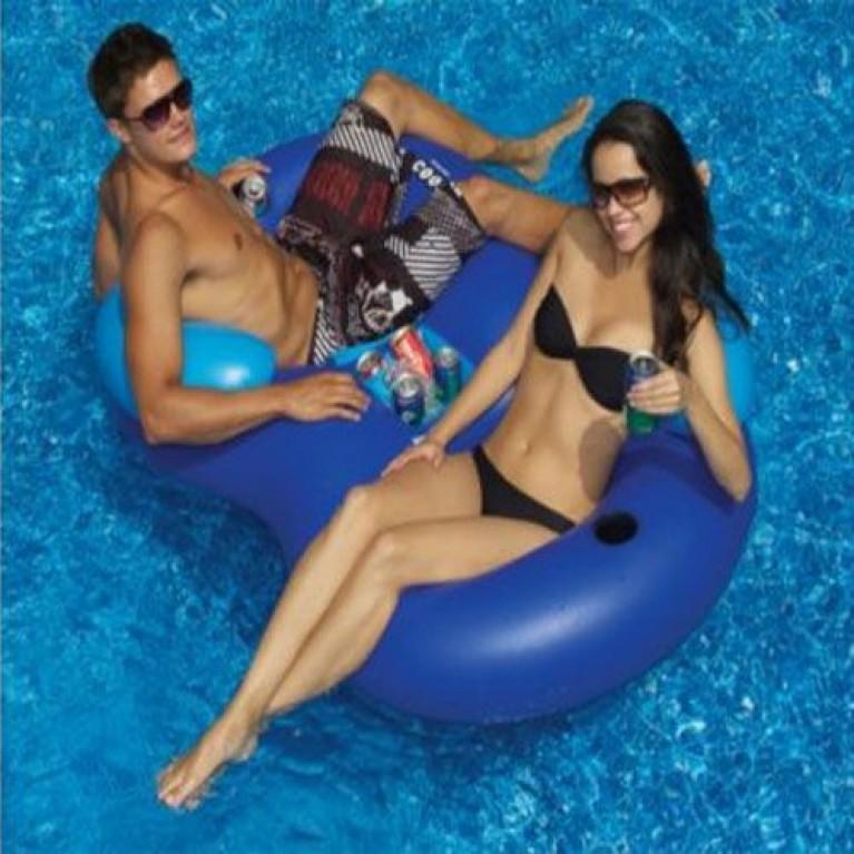 Swimline Solstice Double Tube Cooler Combo Float 16412SF