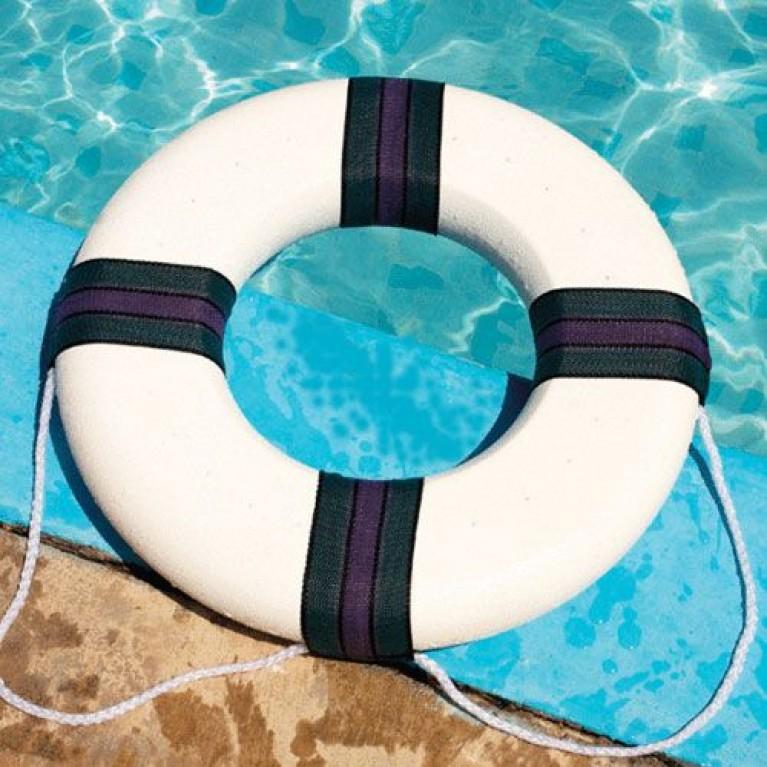 "Swimline 18"" Foam Ring Buoy with Rope 9870"