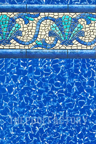 "15'x30'x52"" Oval Esther Williams Beaded Beach Haven Liner - 30 Gauge"