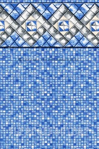 "15'x24'x54"" Oval Uni-Bead Diamond Cube Liner - 25 Gauge"