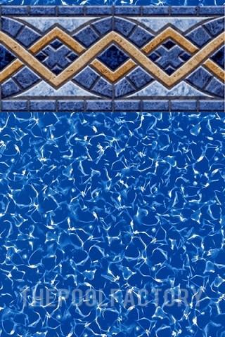 """18'x24'x52"""" Oval Uni-Bead Liberty Tile Liner - 25 Gauge"""
