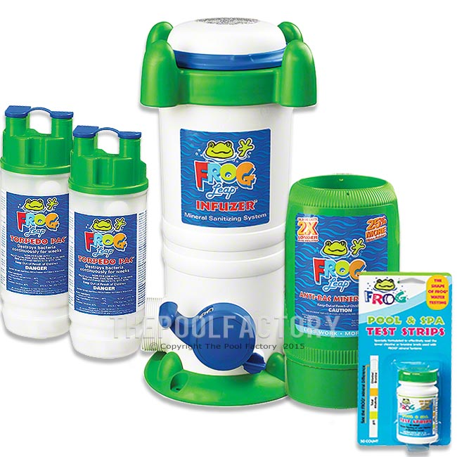 Pool frog leap system package pool chemicals for Pool supplies