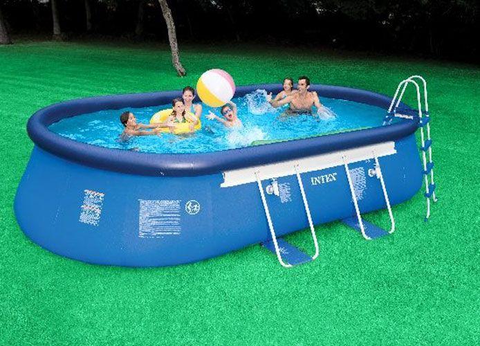 10 39 x18 39 x42 oval intex frame pool set 54931eg. Black Bedroom Furniture Sets. Home Design Ideas