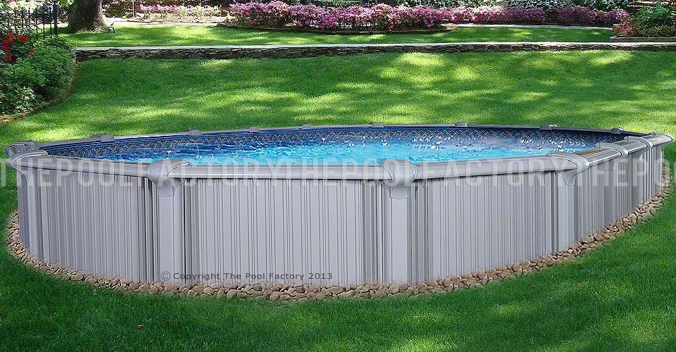 Intrepid Oval Pool - Installed Semi-Inground
