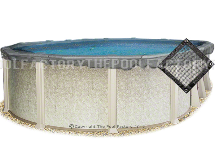 21 39 X 43 39 Oval Pool Leaf Net Cover The Pool Factory