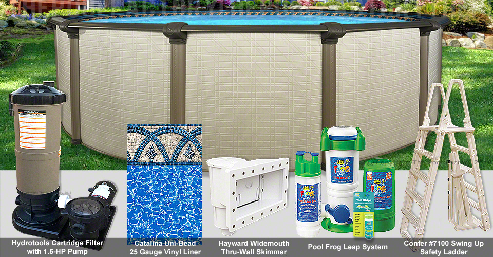 21 39 x54 melenia round pool package for Pool packages